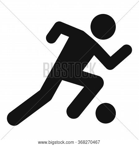 Soccer Player Running Icon. Simple Illustration Of Soccer Player Running Vector Icon For Web Design