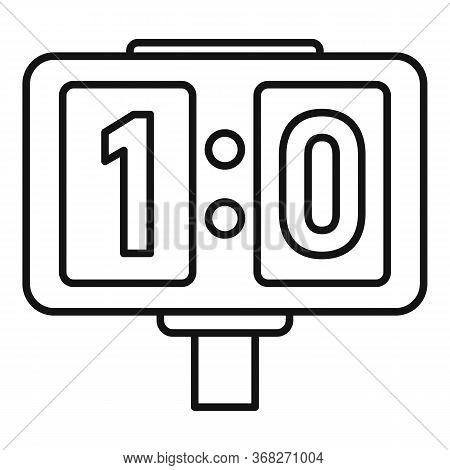 Soccer Table Score Icon. Outline Soccer Table Score Vector Icon For Web Design Isolated On White Bac