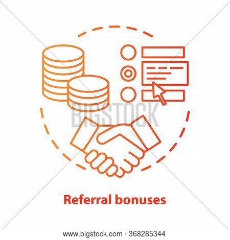 Casino Referral Bonuses Concept Icon. Reward Program Idea Thin Line Illustration. Referral Awards, I