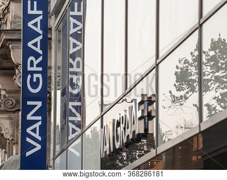 Prague, Czechia - October 31, 2019: Van Graaf Logo In Front Of Their Store For Prague. Peek & Cloppe