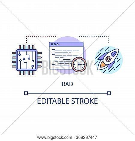 Rad Concept Icon. Rapid Application Development. Short Term Project. Deadline It Product Launch Idea