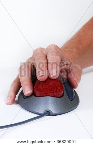 Hand On Mouse Trackball