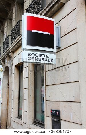 Paris, France - July 20, 2011: Societe Generale Branch In Paris, France. Societe Generale Is The 13t