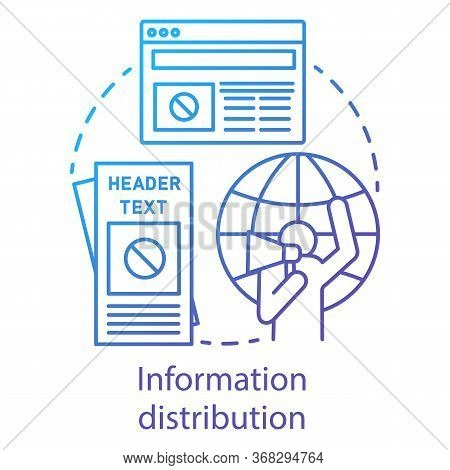 Information Distribution Concept Icon. Nonviolent Resistance, Propaganda Spread Idea Thin Line Illus