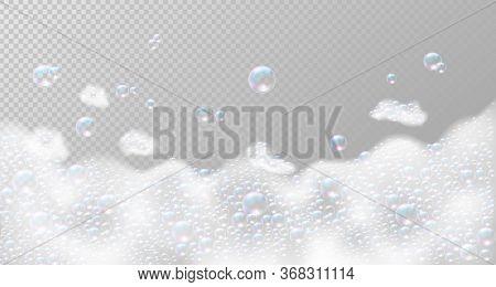 Soap Foam With Bubbles. Vector Illustration Eps10
