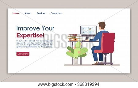 Improve Your Expertise Landing Page Vector Template. Staff Searching Website Interface Idea With Fla