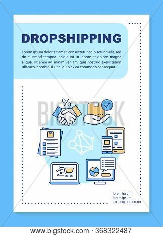 Dropshipping Poster Template Layout. Build Relationships With Suppliers. Banner, Booklet, Leaflet Pr