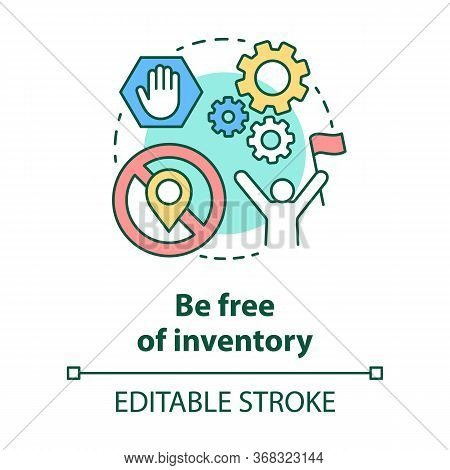 Be Free Of Inventory Concept Icon. Supply Chain Management Model Idea Thin Line Illustration. Ecomme