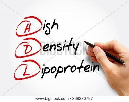 Hdl - High-density Lipoprotein, Acronym Health Concept Background
