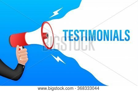 Web Testimonial Icon Design Element. Vector Illustration.