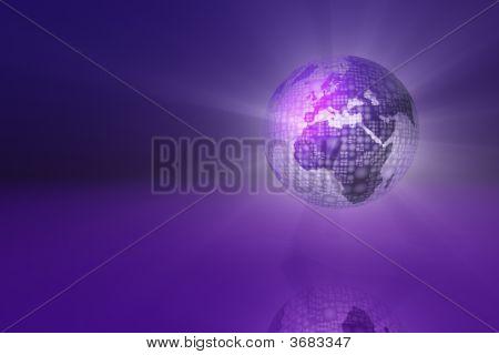 Violet Glowing Globe