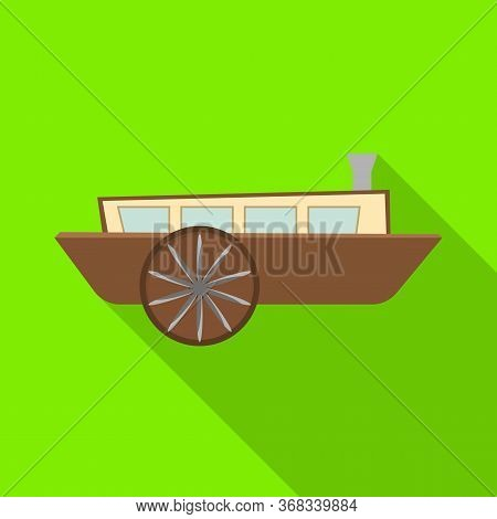 Isolated Object Of Wagon And Carriage Symbol. Graphic Of Wagon And Old Stock Vector Illustration.