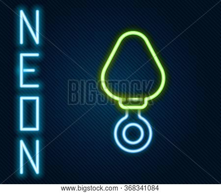 Glowing Neon Line Anal Plug Icon Isolated On Black Background. Butt Plug Sign. Fetish Accessory. Sex