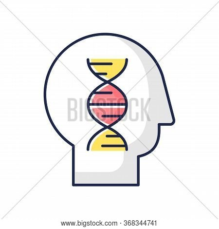 Human Biology Rgb Color Icon. Modern Science, Natural Field Of Study. Genetics, Biotechnology, Gene