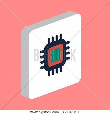 Cpu, Pc Processor Simple Vector Icon. Illustration Symbol Design Template For Web Mobile Ui Element.