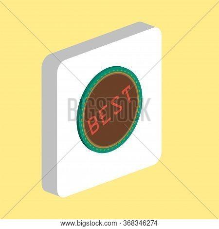 Best Stamp Simple Vector Icon. Illustration Symbol Design Template For Web Mobile Ui Element. Perfec