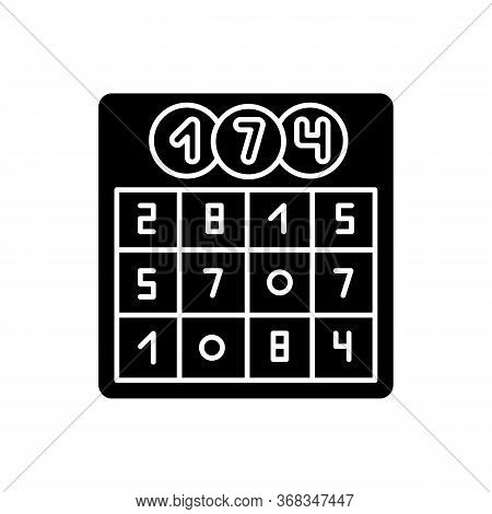 Game Of Chance Black Glyph Icon. Traditional Party Pastime, Old Fashioned Entertainment, Competitive
