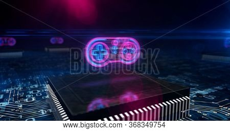 Gaming, Fun, Esport, Cyber Game, Digital Sport And Entertainment Technology Abstract Concept 3d Illu