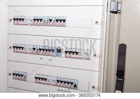 Bordeaux , Aquitaine / France - 04 26 2020 : Legrand Switchboard French Industrial Group For Switche
