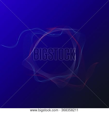 3d Rendering Fractal On A Black Background In The Sky With Stars . Graphic Template For Book, Annual