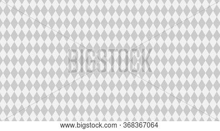 Rhombus Grey White Pattern For Background, Geometric Diamond Pattern For Backdrop, Rhombus Gray And