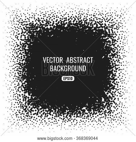 Abstract Black And White Frame With Geometric Texture.