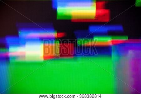 Glitch On The Screen. Abstract Background. Glitch Art. Digital Errors On The Screen. Digital Artifac