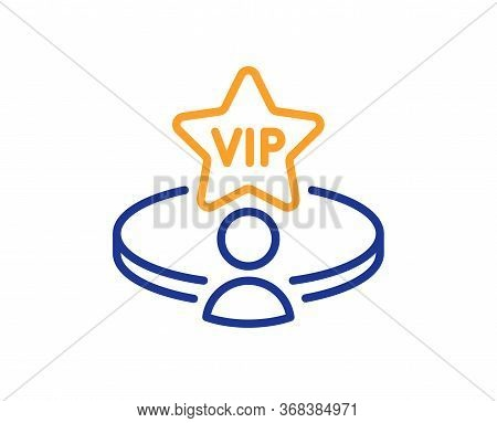 Vip Casino Table Line Icon. Very Important Person Service Sign. Member Club Privilege Symbol. Colorf