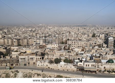 View Of Aleppo In Syria