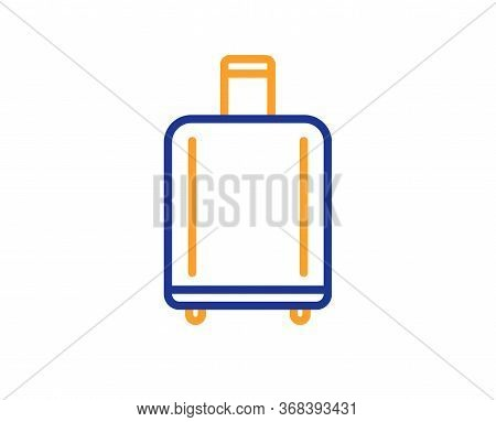 Airport Baggage Reclaim Line Icon. Airplane Luggage Sign. Flight Checked Bag Symbol. Colorful Thin L