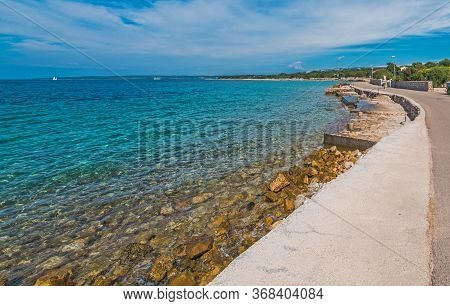 Southern Europe. Croatian Mediterranean Sea Landscape And The Coast Near Novalja, Croatia.