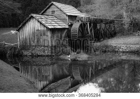 Mabry Mill in Autumn - Blue Ridge Parkway, Virginia USA