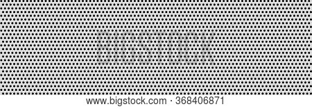 White Perforated Background With Black Holes And Glow - Vector Illustration