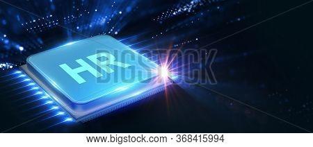 Business, Technology, Internet And Network Concept. Human Resources Hr Management Concept. 3d Illust