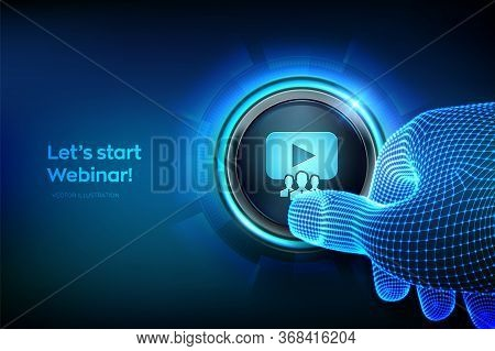 Webinar. Internet Conference. Web Based Seminar. Distance Learning. E-learning Training Business Tec