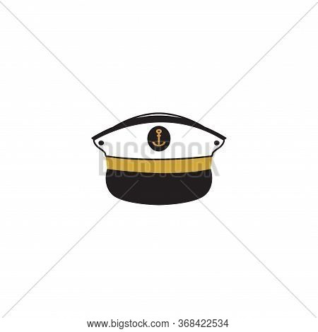 Captain Hat Graphic Design Template Vector Isolated Illustration