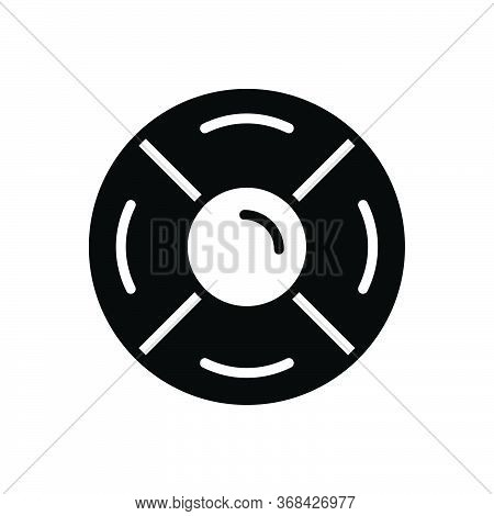 Black Solid Icon For Rescue-disk Rescue Disk Backup Diskette