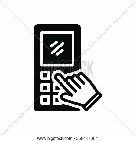 Black Solid Icon For Dial-pad Dial Pad Mobile Communication