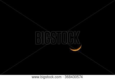 The Third Or Last Quarter Moon Is Also Called A Half Moon On Golden Color 2020: The Half Moon Glow I