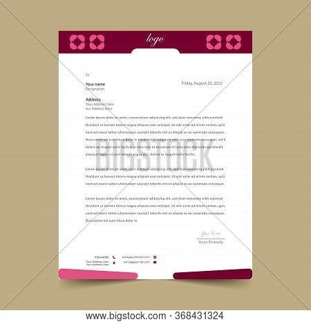 Pink Letterhead Pad Template Design Eye Catching