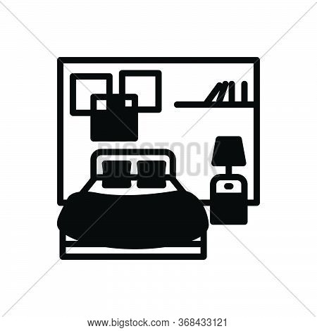 Black Solid Icon For Bedroom Dorm Dormer Furniture Living-room Sleep