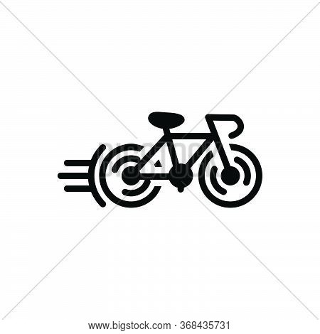 Black Solid Icon For Cycle Race Bicycle  Competition  Cycle   Cycleing  Race  Street