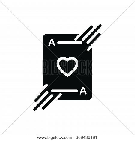 Black Solid Icon For Playing-card Card Cards Casino Playing Poker-cards