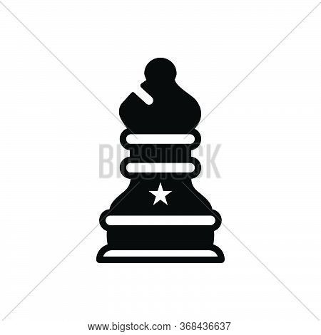 Black Solid Icon For Chess Checkerboard Final Game Play Sport Strategies