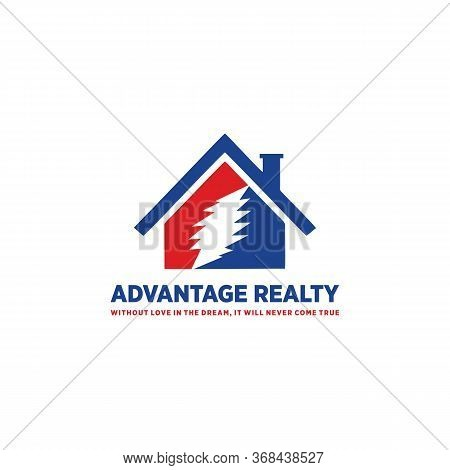 Advantage Realty Logo Vector And Home,sell, Service, Shape