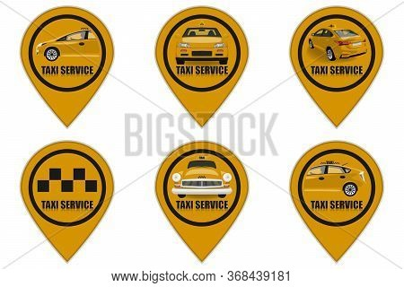 Taxi Service Icons Set. Taxi Icons.illustration Taxi
