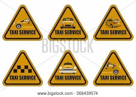 Taxi Service Icons Set. Taxi Icons.taxi Illustration