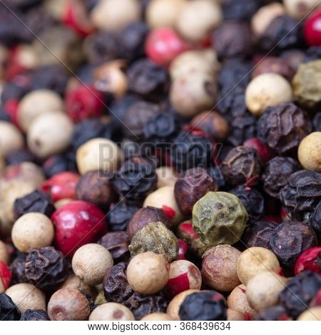 Peper Background, White, Green, Black And Red Peper