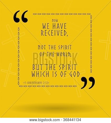 Best Bible Quotes About Spirit Of God. Holy Scripture Sayings For Bible Study Flashcards, Illustrati