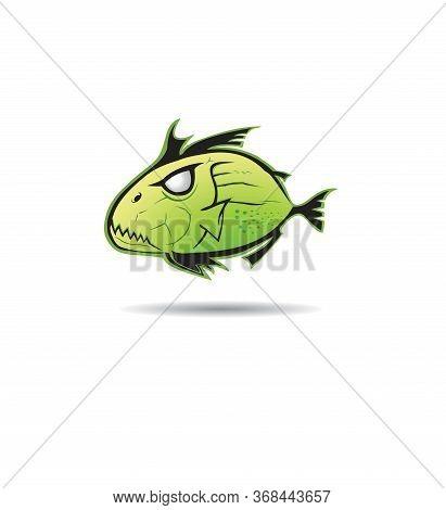 Piranha Logo Vector And Fish, Predator, Premium, Sharp